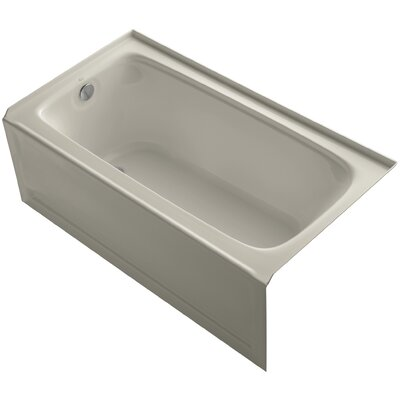 Bancroft 60 x 32 Soaking Bathtub Finish: Sandbar, Drain Location: Left