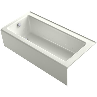 Bellwether 66 x 32 Alcove BubbleMassage Air Bathtub with Left Hand Drain Finish: Dune