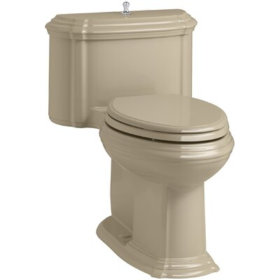 Portrait Comfort Height One-Piece Compact Elongated 1.28 GPF Toilet with Aquapiston Flush Technology, Lift Knob Actuator and Glenbury Quiet-Close Seat with Quick Release Functionality Finish: Mexican Sand