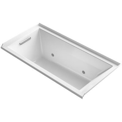 Underscore 60 x 30 Soaking Bathtub Finish: White, Drain Location: Left