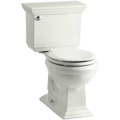 Memoirs Stately Comfort Height Two-Piece Round-Front 1.28 GPF Toilet with Aquapiston Flush Technology, Left-Hand Trip Lever and Insuliner Tank Liner Finish: Dune