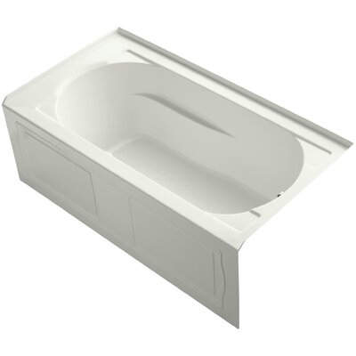 Devonshire Alcove Bubblemassage 60 x 32 Soaking Bathtub Finish: Dune, Drain Location: Right