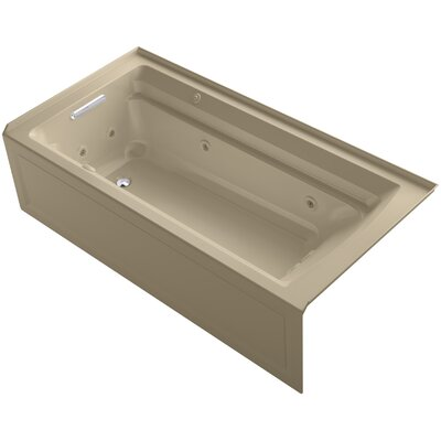 Archer 72 x 36 Air / Whirlpool Bathtub Finish: Mexican Sand, Drain Location: Left