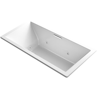 Underscore 72 x 36 Air / Whirlpool Bathtub Finish: White