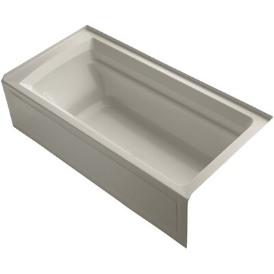 Archer 72 x 36 Soaking Bathtub Finish: Sandbar, Drain Location: Right