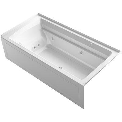 Archer 72 x 36 Air / Whirlpool Bathtub Finish: White, Drain Location: Right