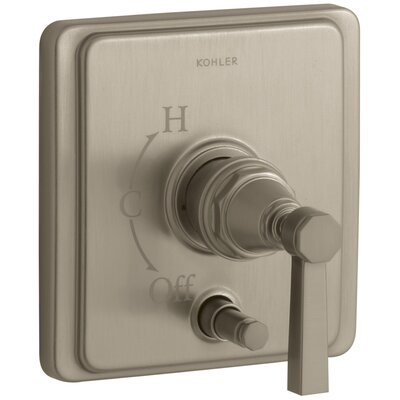 Pinstripe Rite-Temp Pressure-Balancing Shower Faucet with Diverter and Plain Lever Handle Finish: Vibrant Brushed Bronze