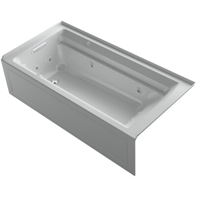 Archer 72 x 36 Air / Whirlpool Bathtub Finish: Ice Grey, Drain Location: Left