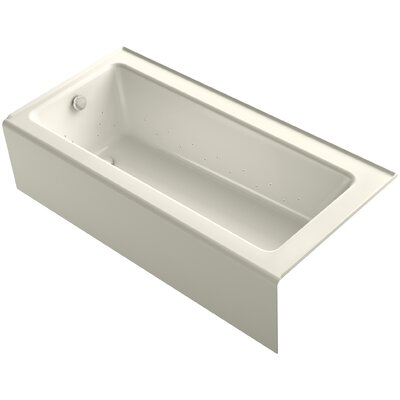 Bellwether 66 x 32 Alcove BubbleMassage Air Bathtub with Left-Hand Drain and Heater Finish: Biscuit