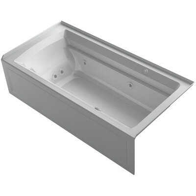 Archer 72 x 36 Air / Whirlpool Bathtub Finish: Ice Grey, Drain Location: Right