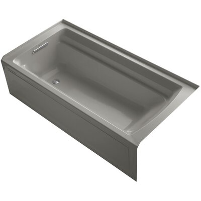 Archer 72 x 36 Soaking Bathtub Finish: Cashmere, Drain Location: Left