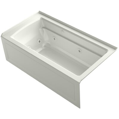 Archer 60 x 32 Air / Whirlpool Bathtub Finish: Dune, Drain Location: Right