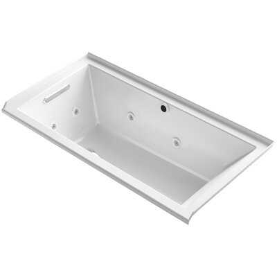 Underscore 60 x 30 Air / Whirlpool Bathtub Finish: White, Drain Location: Left