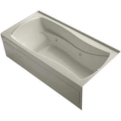 Mariposa Alcove 72 x 36 Whirpool Bathtub Finish: Sandbar, Drain Location: Right