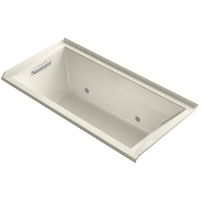 Underscore Alcove Vibracoustic 60 x 30 Soaking Bathtub Finish: Almond