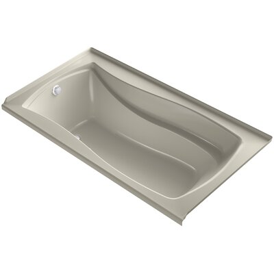 Mariposa Alcove Bubblemassage 66 x 36 Soaking Bathtub Finish: Sandbar, Drain Location: Left