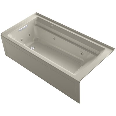 Archer 72 x 36 Air / Whirlpool Bathtub Finish: Sandbar, Drain Location: Left