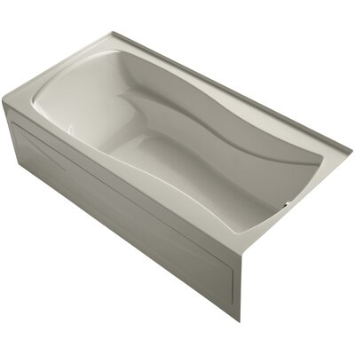 Mariposa Alcove 72 x 36 Soaking Bathtub Finish: Sandbar, Drain Location: Right