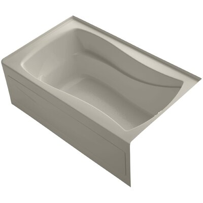 Mariposa 60 x 36 Soaking Bathtub Finish: Sandbar, Drain Location: Right