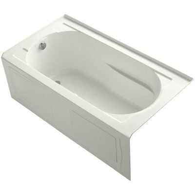 Devonshire Alcove Bubblemassage 60 x 32 Soaking Bathtub Finish: White, Drain Location: Right