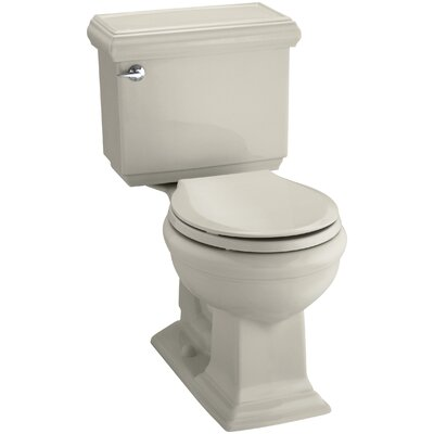 Memoirs Classic Comfort Height Two-Piece Round-Front 1.28 GPF Toilet with Aquapiston Flush Technology and Left-Hand Trip Lever Finish: Sandbar