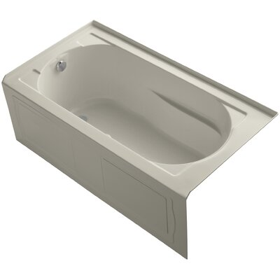 Devonshire Alcove Bubblemassage 60 x 32 Soaking Bathtub Finish: Sandbar, Drain Location: Left