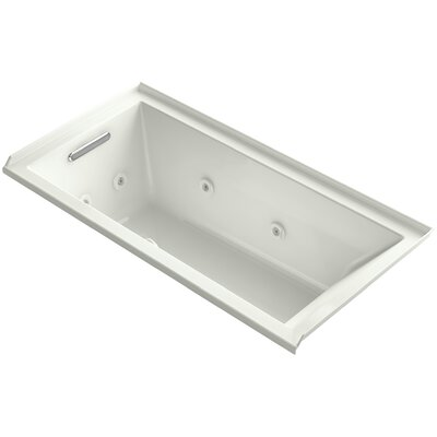 Underscore 60 x 30 Whirlpool Bathtub Finish: Dune, Drain Location: Left