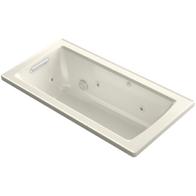 Archer Drop-in Whirlpool with Bask Heated Surface Finish: Biscuit