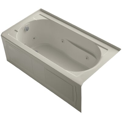 Devonshire Alcove Whirlpool with Integral Apron and Left-Hand Drain Finish: Sandbar