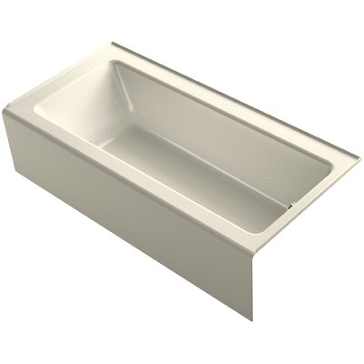 Bellwether 66 x 32 Alcove BubbleMassage Air Bathtub with Right-Hand Drain and Heater Finish: Almond
