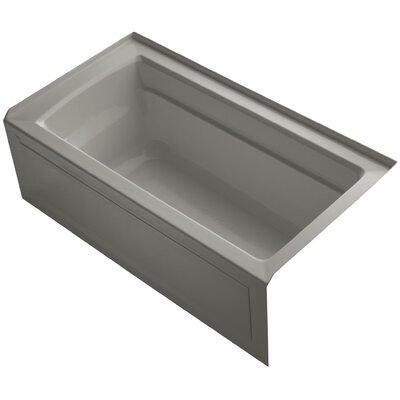 Archer 60 x 32 Soaking Bathtub Finish: Cashmere, Drain Location: Right