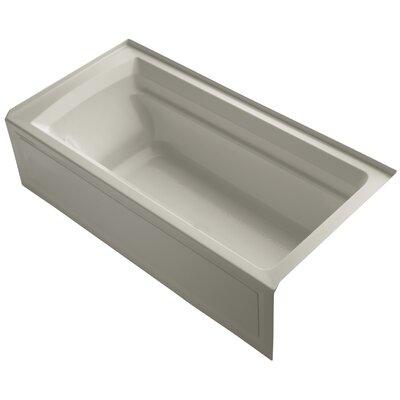 Archer 72 x 36 Soaking Bathtub Finish: Sandbar, Drain Location: Right