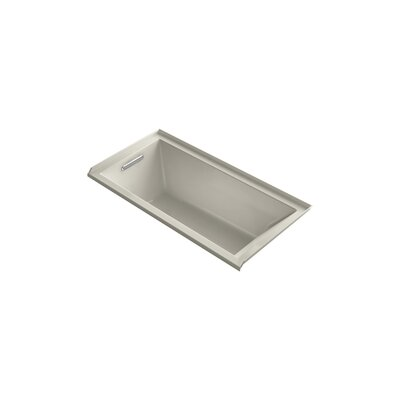 Underscore 60 x 30 Soaking Bathtub Finish: Sandbar, Drain Location: Left
