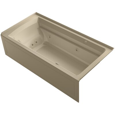 Archer 72 x 36 Air / Whirlpool Bathtub Finish: Mexican Sand, Drain Location: Right
