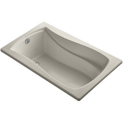 Mariposa Vibracoustic 60 x 36 Soaking Bathtub Finish: Sandbar