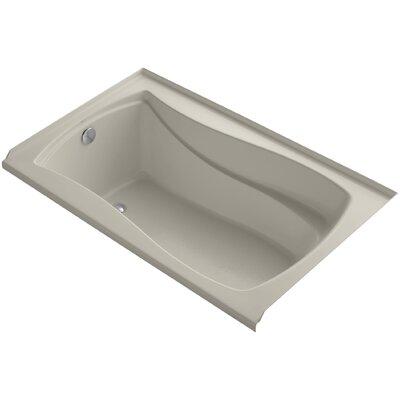 Mariposa Alcove Vibracoustic 60 x 36 Soaking Bathtub Finish: Sandbar, Drain Location: Left