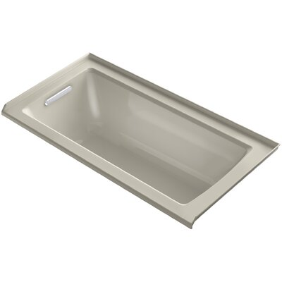 Archer Alcove Bath with Bask� Heated Surface, Tile Flange and Left-Hand Drain Finish: Sandbar