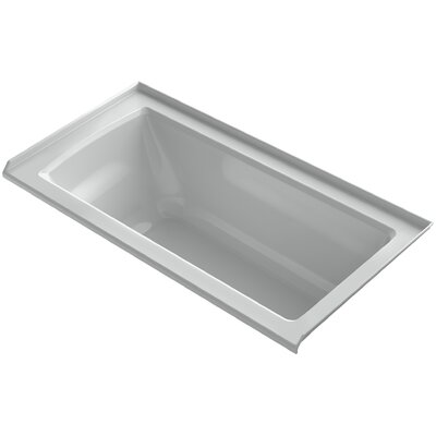 Archer 60 x 30 Soaking Bathtub Finish: Ice Grey, Drain Location: Right