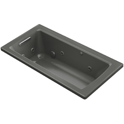 Archer 60 x 30 Drop-In Whirlpool Finish: Thunder Grey