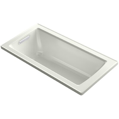 Archer Drop-In Bath with Bask Heated Surface and Reversible Drain Finish: Dune