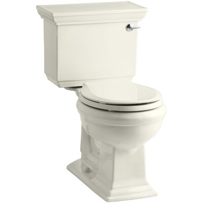 Memoirs Stately Stately Comfort Height Two-Piece Round-Front 1.28 GPF Toilet with Aquapiston Flush Technology and Right-Hand Trip Lever Finish: Biscuit