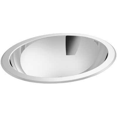 Bachata Oval Undermount Bathroom Sink with Overflow Finish: Mirror