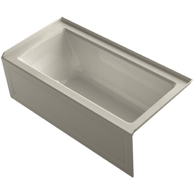 Archer 60 x 30 Air Bathtub Finish: Sandbar, Drain Location: Right