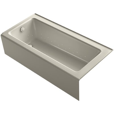 Bellwether 66 x 32 Alcove BubbleMassage Air Bathtub with Left-Hand Drain and Heater Finish: Sandbar