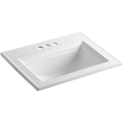 Memoirs Stately Self Rimming Bathroom Sink 4 Finish: White