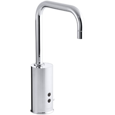 Gooseneck Single-Hole Touchless Electronic Deck-Mount Faucet with Insight Technology and Mixer, Less Drain. Complies with Buy America Act (Baa) and Ab1953
