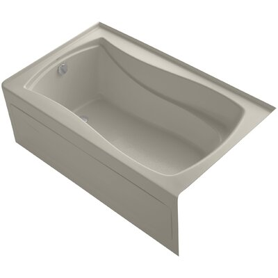 Mariposa 60 x 36 Soaking Bathtub Finish: Sandbar, Drain Location: Left