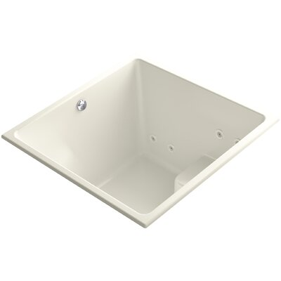 Underscore 48 x 48 Drop-in Whirlpool and BubbleMassage Air Bathtub Finish: Biscuit