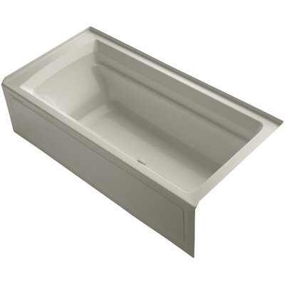 Archer 72 x 36 Air Bathtub Finish: Sandbar, Drain Location: Right