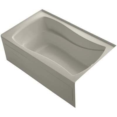 Mariposa Alcove 60 x 36 Soaking Bathtub Finish: Sandbar, Drain Location: Right